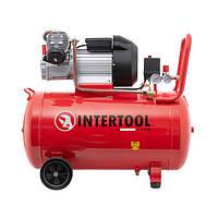 Компрессор 100 л, 3 кВт, 220 В, 8 атм, 420 л/мин, 2 цилиндра INTERTOOL PT-0008