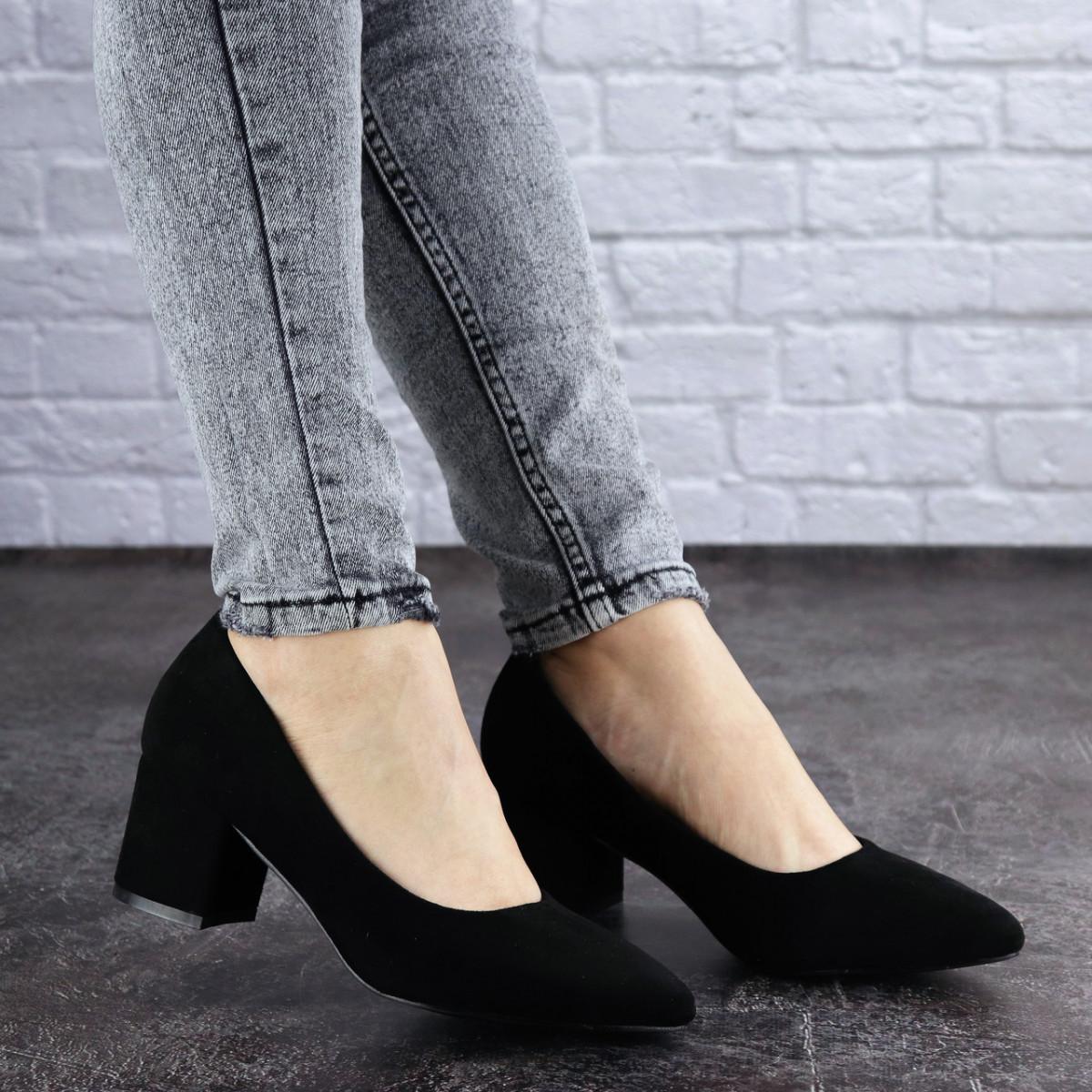 Жіночі туфлі на підборах Fashion Pebbles 2003 36 розмір 23 см Чорний