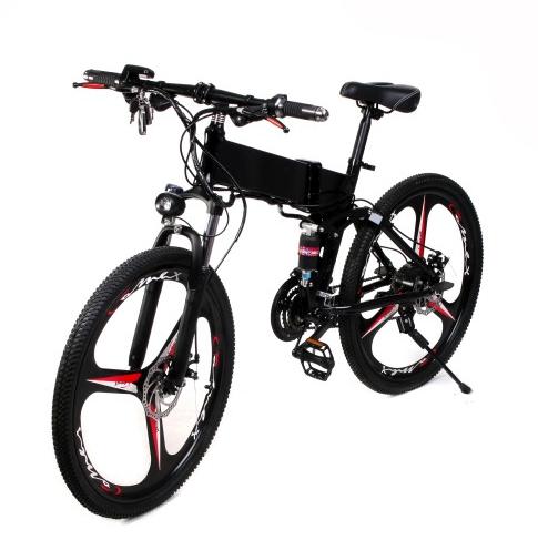 Двухколесный электро-велосипед складной 700вт 26 дюймов Lebron FY056 черный