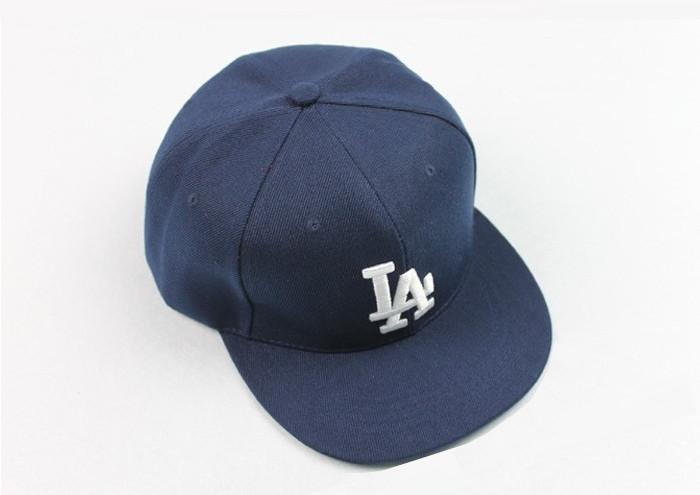 Кепка снепбек в стиле LA (Лос-Анджелес) с прямым козырьком Синяя 2, Унисекс