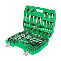 Набор инструментов INTERTOOL ET-6108SP, 108 шт. в кейсе, трещоточная рукоятка, головки от 4 до 32 мм