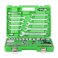 Набор инструментов INTERTOOL ET-6082SP, 82 шт. в кейсе, шестигранные, головки с насадками, свечные