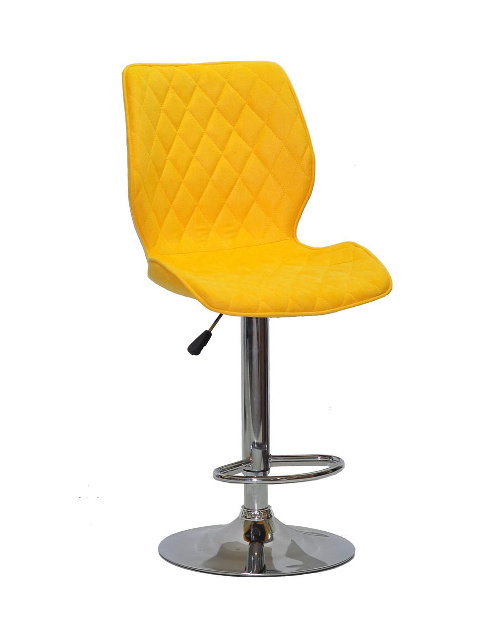 Барный стул Тони TONI BAR CH - BASE желтый шенилл, стул для визажа