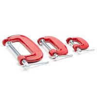 Набор струбцин столярных INTERTOOL HT-6013 3ед., G-образные, размер 20 мм, размер 50 мм, размер 75 мм