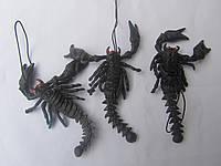 """Прикол подвеска """"Чёрный скорпион"""" силиконовый"""