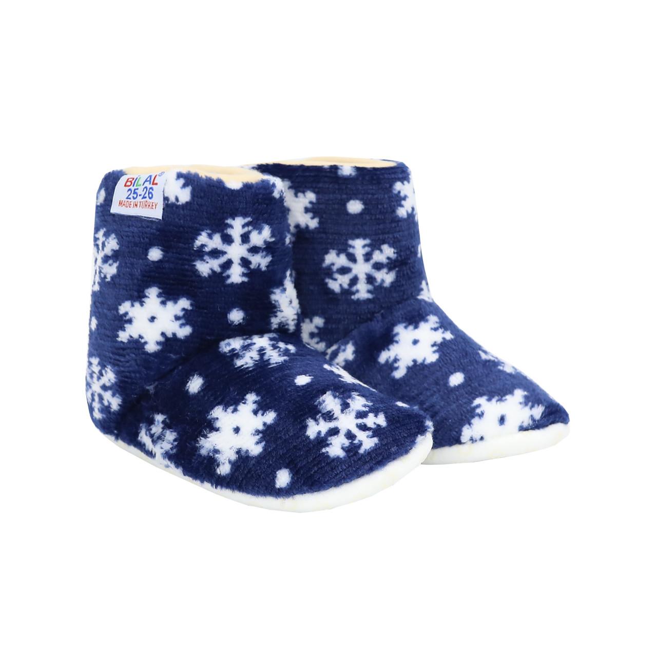 Тапочки, чобітки дитячі сині на м'якій підошві Сніжинки р. 25-30