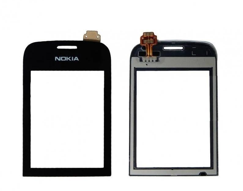 Сенсор (Тачскрін) для Nokia Asha 303 (Чорний) Оригінал Китай
