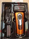 Електробритва сіткова з тримером Gemei GM-7110, фото 7