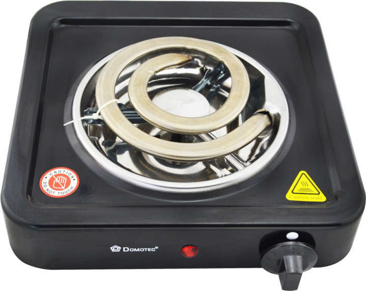 Електроплита Domotec MS-5531 плита електрична настільна Домотек з широкою спіраллю 1000 Вт