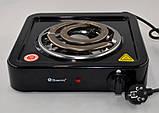 Електроплита Domotec MS-5531 плита електрична настільна Домотек з широкою спіраллю 1000 Вт, фото 3
