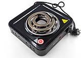 Електроплита Domotec MS-5531 плита електрична настільна Домотек з широкою спіраллю 1000 Вт, фото 4