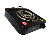 Електроплита Domotec MS-5531 плита електрична настільна Домотек з широкою спіраллю 1000 Вт, фото 5