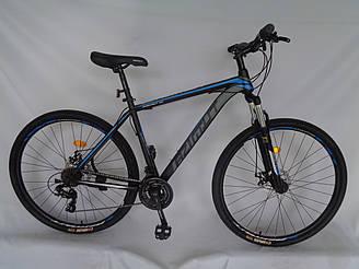 Спортивний гірський велосипед 29 дюймів Azimut 40D рама 20 чорно-синій