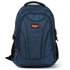 Рюкзак школьный для мальчика с USB переходником подростковый синий Power In Eavas 924