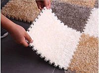 Мягкая ковровая плитка - пазл 30х30см. Ковер - пазл, ковер - конструктор, мягкое ковровое покрытие