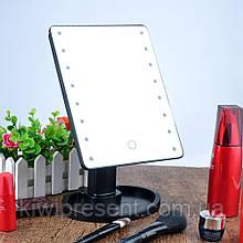 Косметическое зеркало с подсветкой для макияжа 16 лампочками с led-подсветкой настольное сенсорное