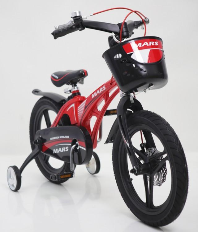 Детский двухколесный магнезиевый велосипед (от 5 лет) на 16 дюймов  MARS-16 красный