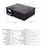 Мультимедійний Wi-Fi проектор UNIC UC68 BK, домашній кінотеатр 1800 люмен,світлодіодний проектор з HD 1080p, фото 7