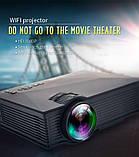 Мультимедійний Wi-Fi проектор UNIC UC68 BK, домашній кінотеатр 1800 люмен,світлодіодний проектор з HD 1080p, фото 9