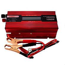 Перетворювач струму UKC 1000W KC-1000D AC/DC з LCD дисплеєм / Автомобільний інвертор 1000W