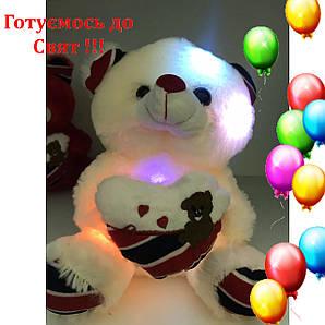 Лучший подарок Мягкая Игрушка Ночник светящийся мишка Тедди Белый