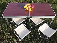 Стіл для пікніка розкладний + 4 стільці Rainberg RB-9301 посилений