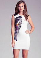 Оригинал. Полная распродажа. Платье Karen Millen белого цвета с абстрактным принтом KM70528