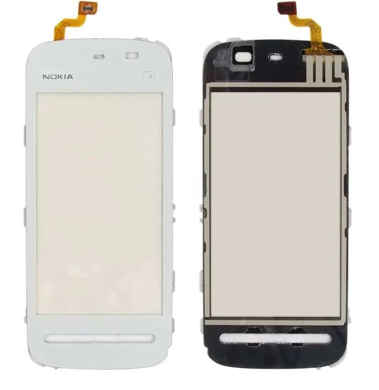 Сенсор (Тачскрін) для Nokia 5230 (Білий) Оригінал Китай