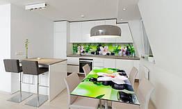 Наклейка на стол Zatarga «Орхидея и бамбук 600х1200мм салатовый для домов, квартир, столов, кофейн,