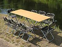 """Меблі для пікніка, туризму, кемпінгу і відпочинку """"Кемпінг Ф2+8"""" (2 столи і 8 стільців)"""
