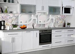 """Скинали на кухню Zatarga""""Разнообразие"""" 650х2500 мм серый виниловая 3Д наклейка кухонный фартук самоклеящаяся"""