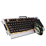 Комп'ютерна ігрова клавіатура KEYBOARD K33 з підсвічуванням і Мишкою, фото 2