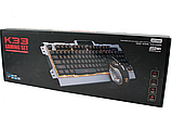 Комп'ютерна ігрова клавіатура KEYBOARD K33 з підсвічуванням і Мишкою, фото 3