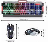 Комп'ютерна ігрова клавіатура KEYBOARD K33 з підсвічуванням і Мишкою, фото 6