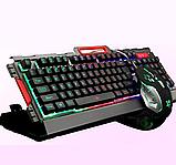 Комп'ютерна ігрова клавіатура KEYBOARD K33 з підсвічуванням і Мишкою, фото 9