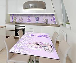 Наклейка 3Д виниловая на стол Zatarga «Колокольчики» 600х1200 мм для домов, квартир, столов, кофейн,