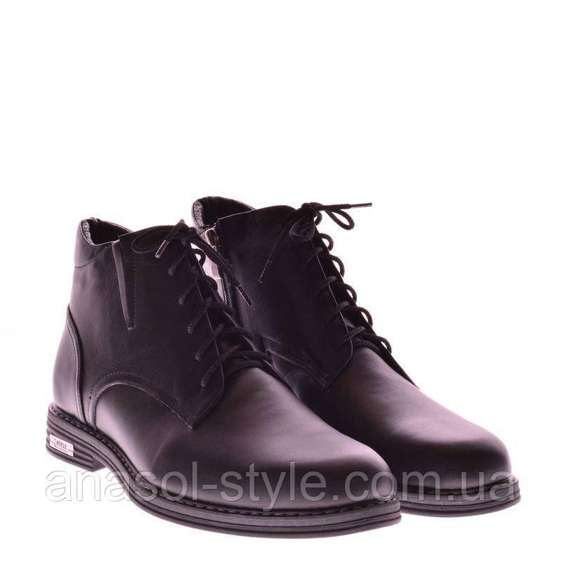 Ботинки La Rose 1022 41 ( 28см ) Черная кожа