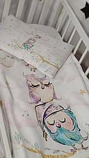 Дитяче постільна змінна білизна в ліжечко / в манеж Qvatro Gold 3в1: наволочка, підодіяльник, простирадло, фото 2
