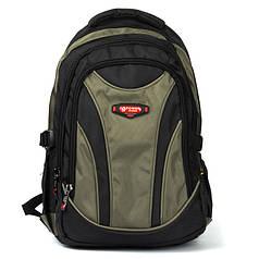 Рюкзак для мальчика с USB переходником школьный подростковый городской хаки Power In Eavas 924