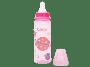 Пляшка кольорова 250 мл з силіконовою соскою  LI 138