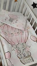 Дитяче постільна змінна білизна в ліжечко / в манеж Qvatro Gold 3в1: наволочка, підодіяльник, простирадло, фото 3