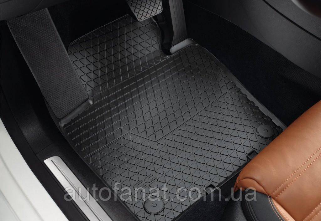 Оригинальные rоврики в салон Volkswagen CC с 2012 года, резиновые передние (3C806150282V)