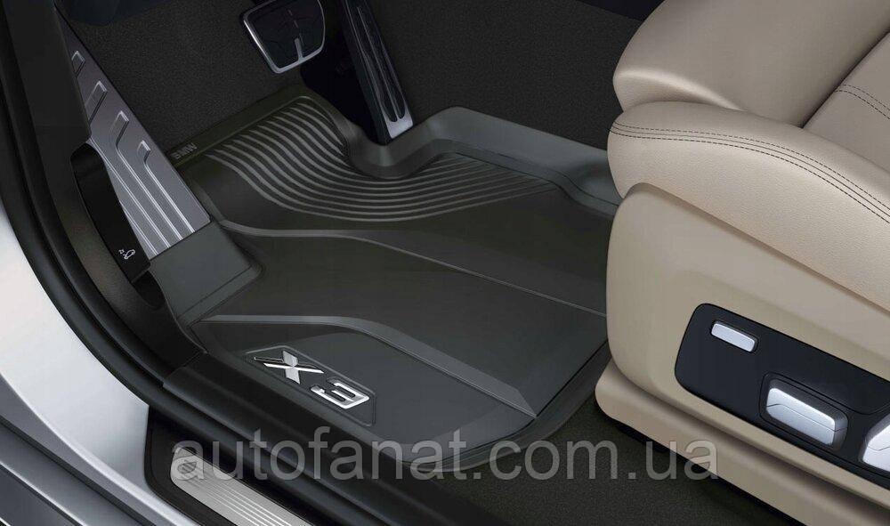 Оригинальные высокие передние коврики салона BMW X3 (G01) (51472450514)