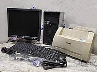 Компьютер в сборе, Intel Core 2 Duo 2x2.5 Ггц, 3 Гб ОЗУ DDR2, 160 Гб HDD, монитор 19 дюймa + лазерный принтер