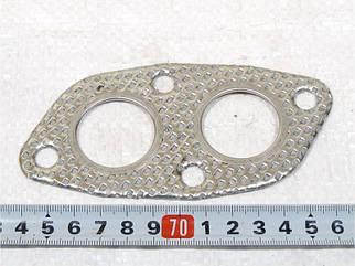 Прокладка трубы приемной ЗАЗ 1102 метал +4гайки
