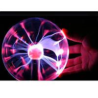 Плазменный шар молния Plasma ball,плазменный шар Тесла 10 см,ночник молния,светильник-анистрес