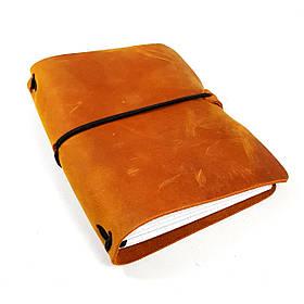 А6 Блокнот  синій  шкіряний натуральна кожаный блокнот