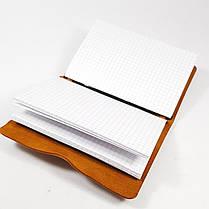 А6 Блокнот  синій  шкіряний натуральна кожаный блокнот, фото 2