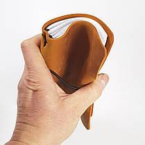 А6 Блокнот  синій  шкіряний натуральна кожаный блокнот, фото 3