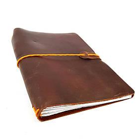 Блокнот camal кемел коричневий мідорі Midori А5 шкіряний натуральна шкіра м'яка шкіра